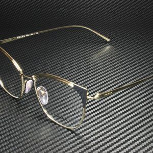 Prada Women's Grey and Gold Eyeglasses!